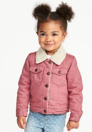 Sherpa lined pink trucker jacket