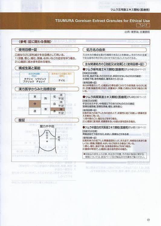 ツムラ五苓散 | 漢方専門 | 大山漢方堂薬局