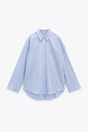 Zara Striped Poplin Shirt