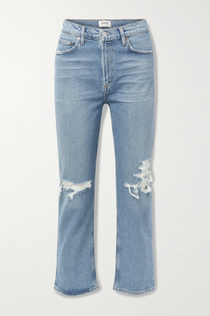 Agolde Distressed High Rise Jeans