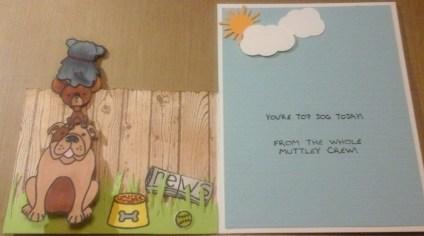 inside of dog fence card by cyndi