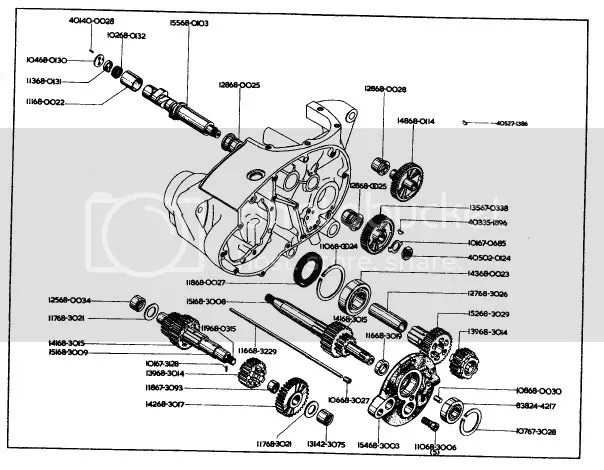 BSA A65 Gearbox Parts Diagram Photo by bmattacott