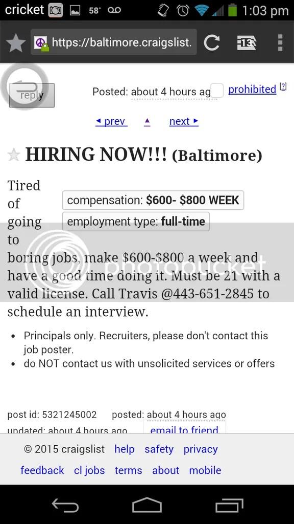 Craigslist Jobs Baltimore Md : craigslist, baltimore, Baltimore, Craigslist, Gates, Heaven
