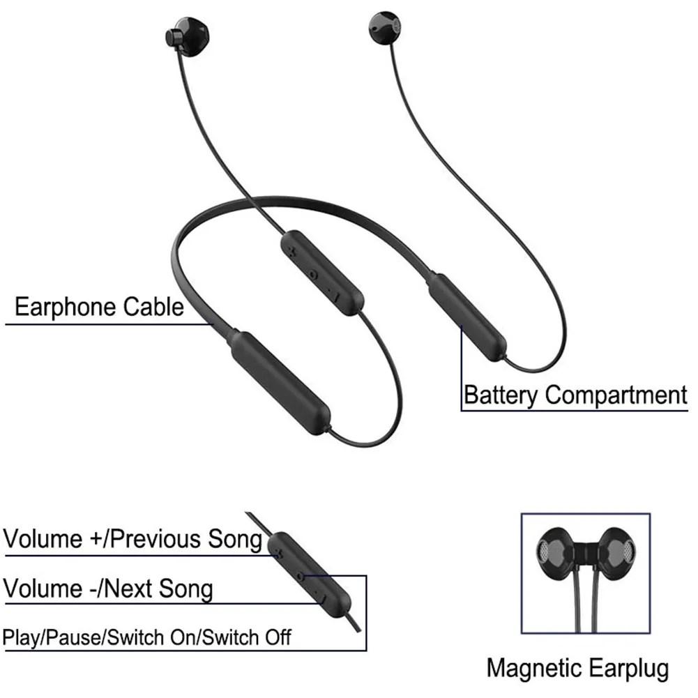 Wireless Sports Earphone HiFi Sound Neckband Bluetooth