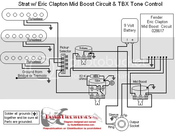 Fender Eric Clapton TBX Wiring Diagram Photo by