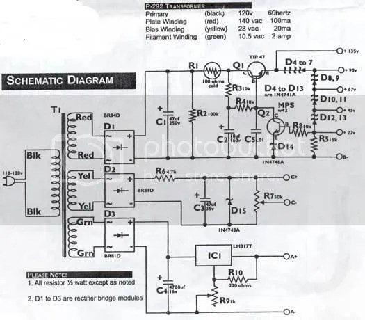 AES Battery Eliminator Schematic Photo by Don_S_bucket
