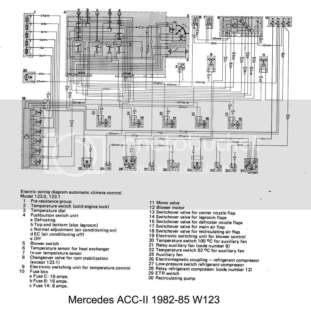 W123 1982-85 ACC-II Schematic Photo by Jeremy5848