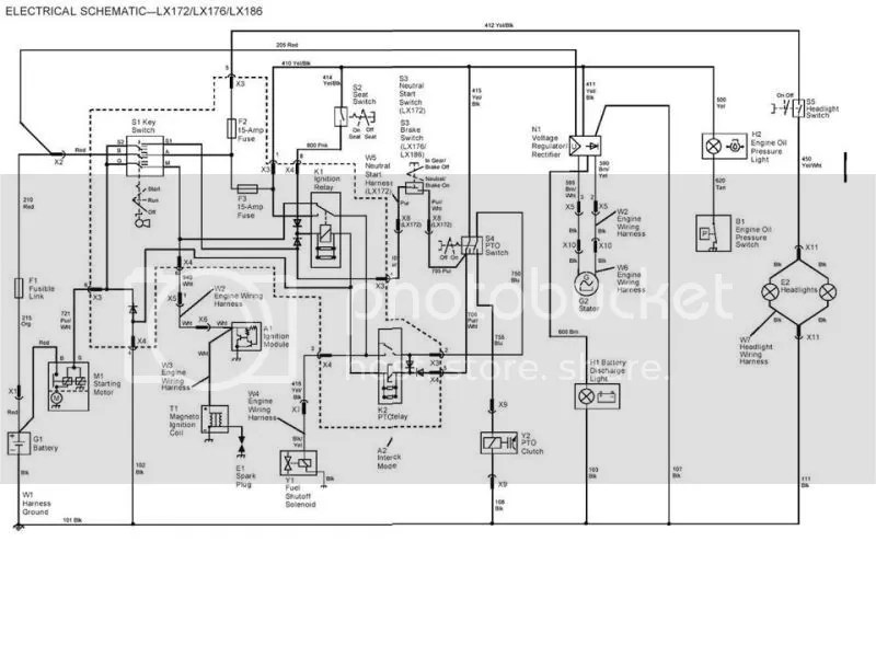John Deere LX-176 Wiring Diagram Photo by wheelterrapin