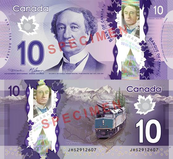 Nova nota de C$10