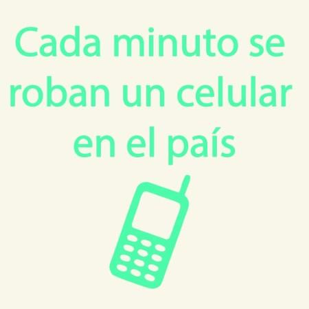 Boton cada minuto se roban un celular en el pais
