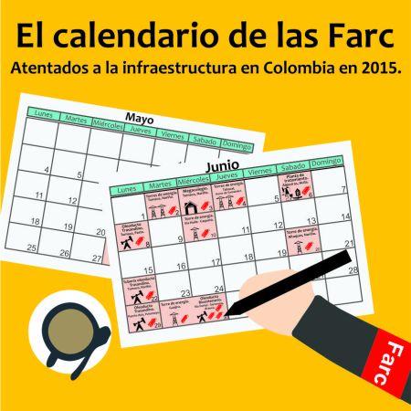 Boton calendario de las Farc