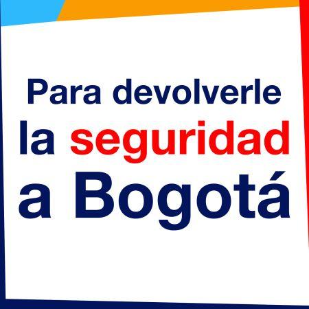 Boton para devolverle la seguridad a Bogota