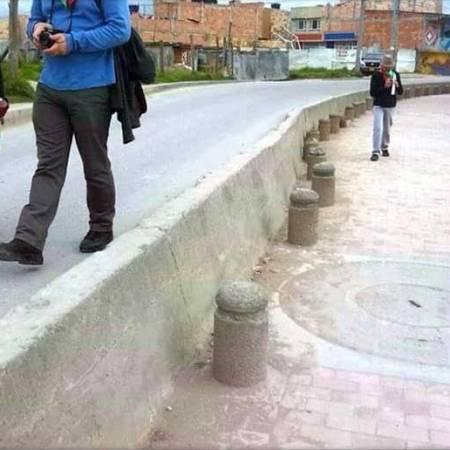 Bolardos de Penalosa en Bogota