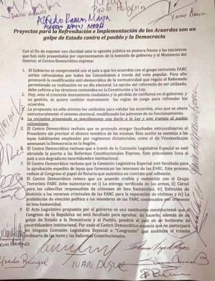 Carta de Centro Democratico