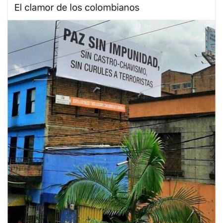 Paz sin impunidad piden los colombianos
