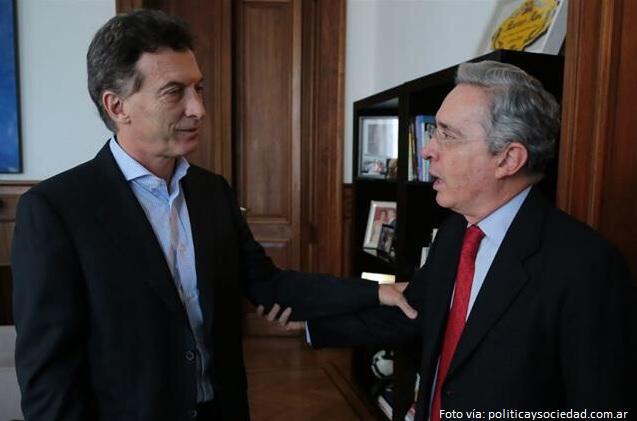 Macri y Uribe