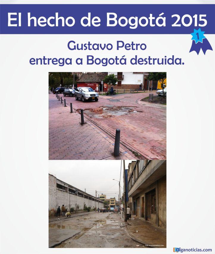 Bogota destruida
