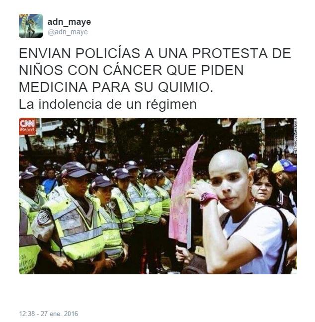 protesta niños con cáncer