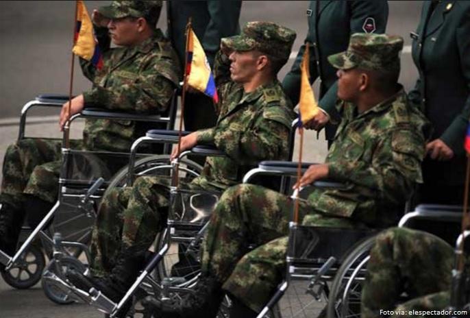 militares heridos en combate