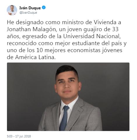 ministro vivienda