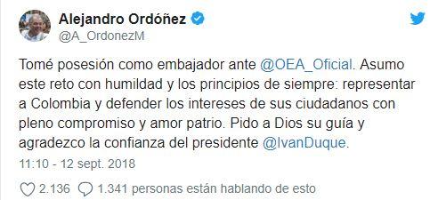 ordoñez OEA