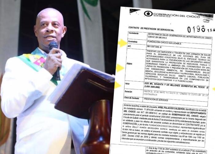 Suspenden al gobernador del Chocó por corrupción con los recursos ...
