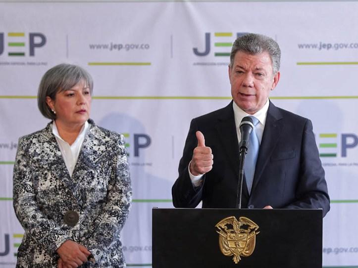 Presidente Santos en la JEP