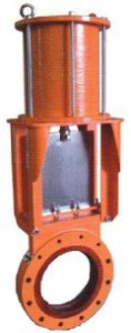 urethane lined slurry knife gate valve