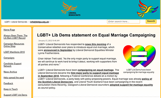 LGBT+ Liberal Democrats - click to go to this website.