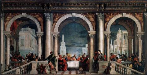 "Veronese, ""Feast in the House of Levi"" 1573."