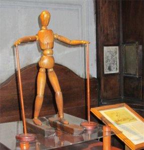 Model of Leonardo's podoscaphs