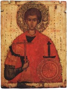 St Demetrius of Thessaloniki (15th century icon)