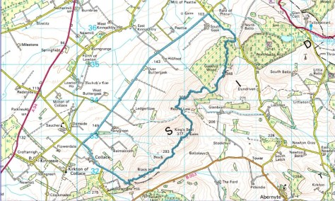 Dunsinane to Gask route