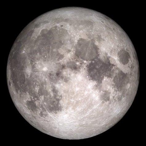 NASA LRO full moon