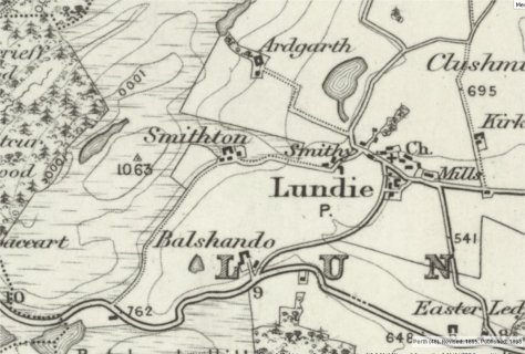 1898 OS inch-to-the-mile showing Smithton