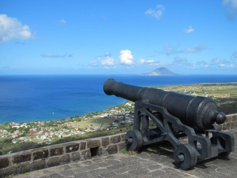 Saba from Brimstone Hill Fortress, St Kitts