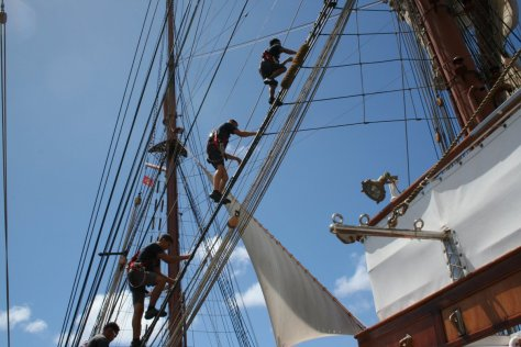 Manning the masts