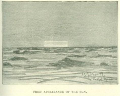 Nansen's sketch of Novaya Zemlya Effect, 16 Feb 1894