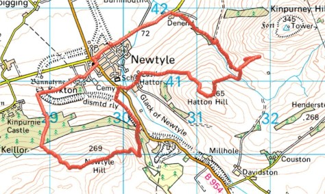 Glack of Newtyle route