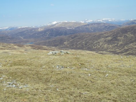View north from north end of summit ridge, Beinn Mheadhonach