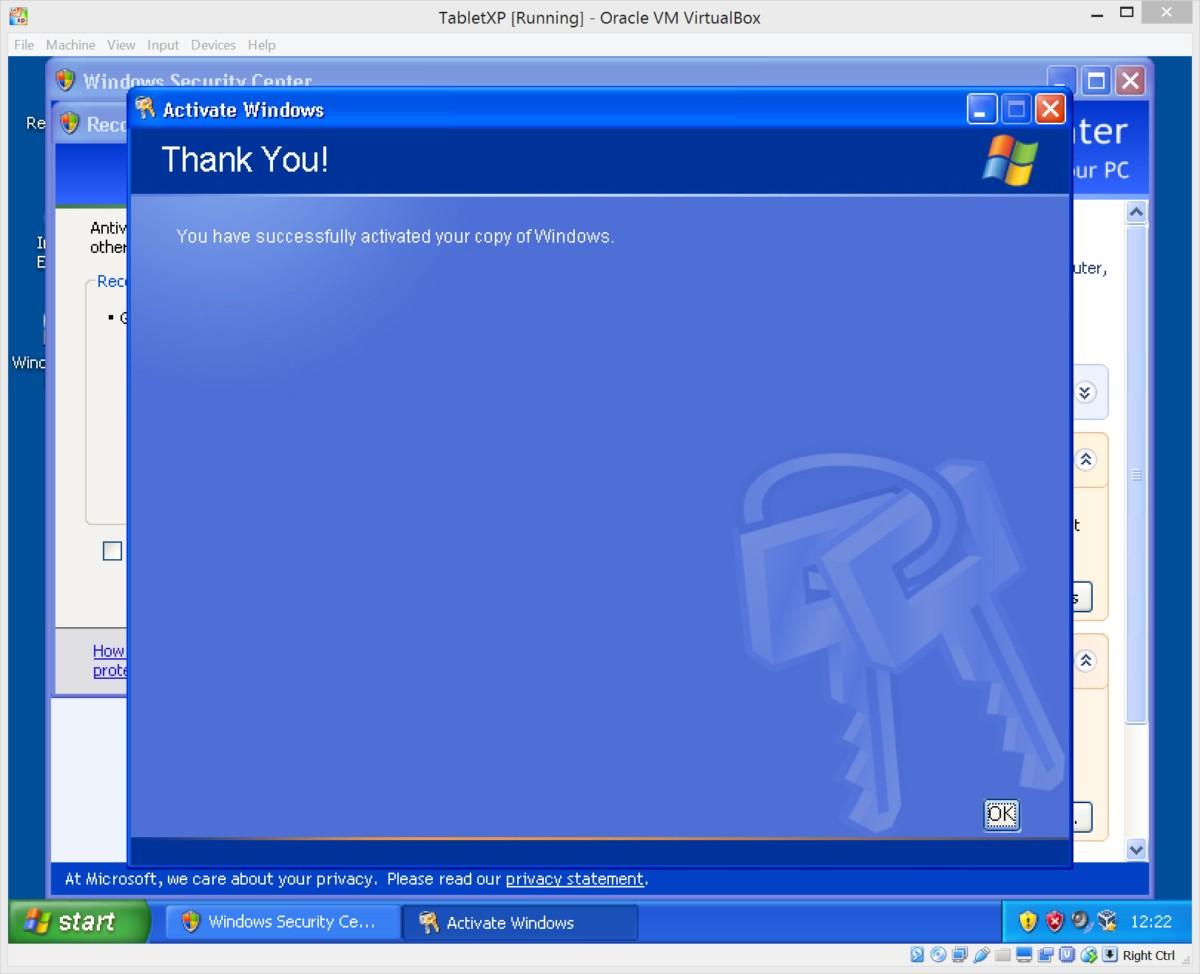 Running Windows XP Under VirtualBox | The Oikofuge