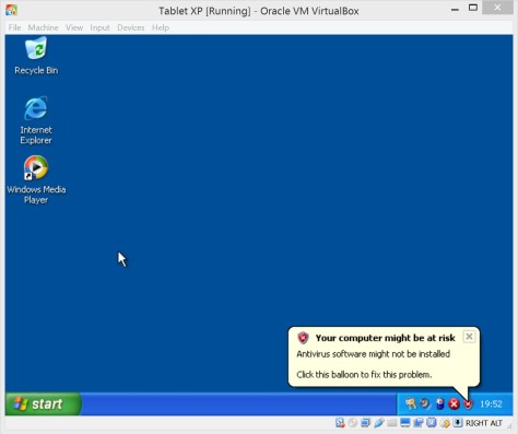 XP under VirtualBox