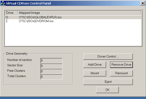 Mounting a couple of disc images using VCdControlTool
