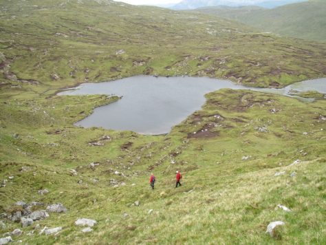 Descending to Loch Dubh from Beinn Leoid
