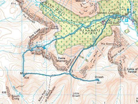 Route on Mayar & Driesh
