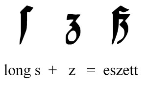 Eszett in blackletter typeface