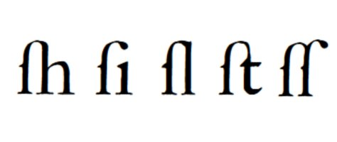 Long S Ligatures