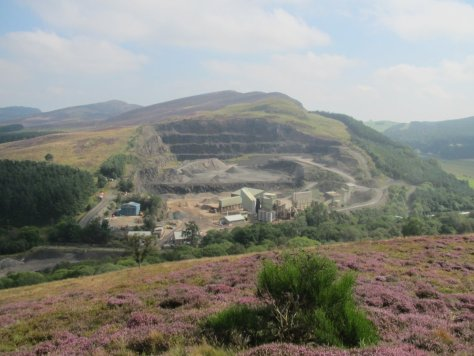 Collace Quarry, from Bandirran Hill