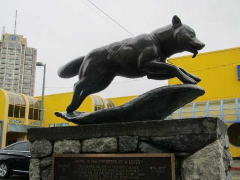 Iditarod ceremonial start, Anchorage
