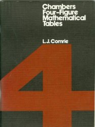 Cover of Chambers Four-Figure Mathematical Tables